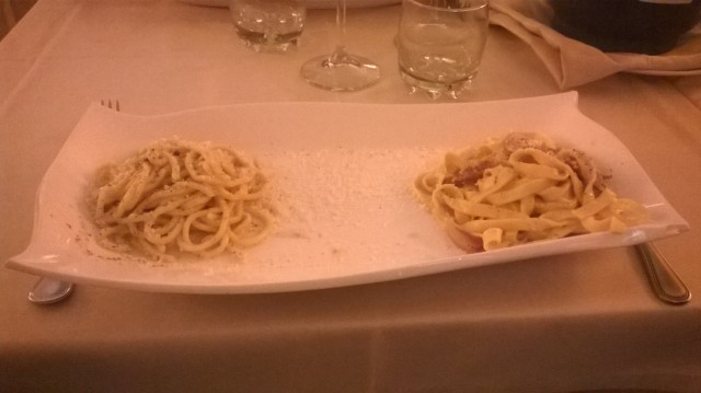 Two tipical kind of pasta I ate in Rome!