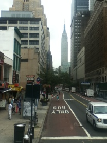 First views of New York from the bus